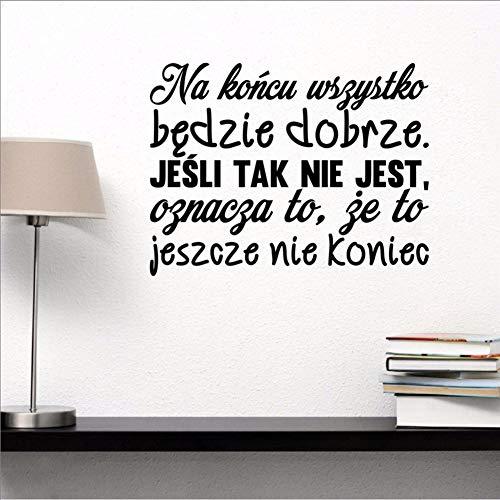 Kuletieas Alles Wird Gut Vinyl Wandaufkleber Polen Schlafzimmer Wanddekor, Polnische Sprache Wandaufkleber Für Wohnzimmer Dekoration 75 * 57 Cm