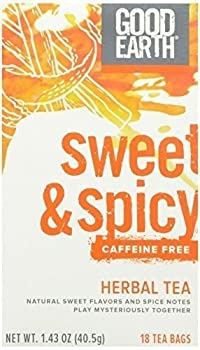 Good Earth, Original Sweet & Spicy Caffeine Free Herb Tea, 18 ct