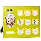 Fotorahmen / Bilderrahmen -  Kinder  - incl. Name - mit 10 Bilder - Collage zum Hinstellen - Tischausteller - Gross - Deko für Kinder + Erwachsene - viele &..