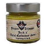 Senf Apfel-Calvados 115 ml Glas Piratenschmaus Geschenke für Männer Feinkost vegan