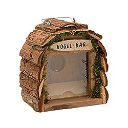 Gardigo Vogel-Bar | Futterstation aus Holz | für Balkon und Garten | Vogelhaus zum aufhängen | Dekoratives Vogelhäuschen | Deutscher Hersteller