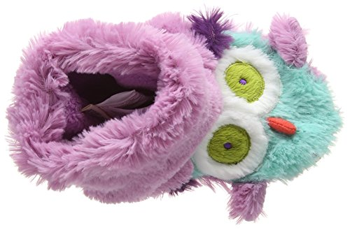 Hatley Lbh Kids Slippers - Owls, Chaussons fille Multicolore - Multicolor (Purple)