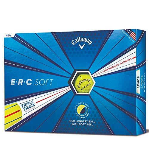 Callaway Golf 2019 ERC Soft Triple Track Golfbälle, Herren, ERC Soft Triple Track 19 Golf Ball, weiß -
