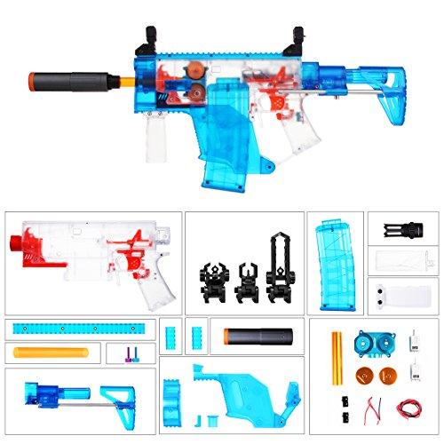 LoKauf Worker Swordfish Blaster Semi Automatisch Kit: Schulterstütze + Zielfernrohr + Flywheels + Magazin + Griff (Kit Flugbahn)