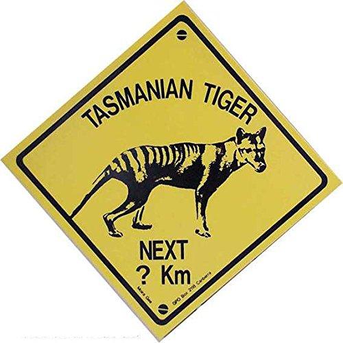 Tasmanian Tiger mittel Road Sign Aussie plastica Nuovo 18x18cm VK111-1
