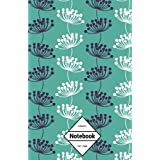 """GM&Co: Notebook Journal Dot-Grid, Lined, Graph, 120 pages 5.5""""x8.5"""": Pollen Flower (Floral Notebook)"""
