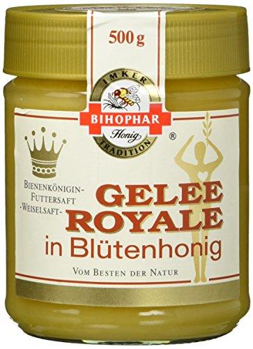 BIHOPHAR Honig Gelee Royal, 2er Pack (2 x 500 g) - Gelee Royal Honig