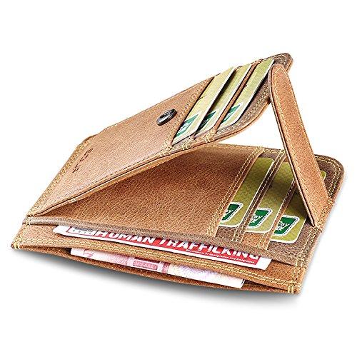 ZXDOP Brieftasche der Männer Mappen-Retro- Männer kurze Beutel-Mappe der ledernen Beutel-Männer ( farbe : 4# ) 4#