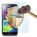 OneFlow 9H Panzerfolie für Samsung Galaxy S5 Panzerglas Display Glasfolie [Tempered Glass] Screen protector Glas Displayschutz-Folie für Samsung Galaxy S5 / S5 Neo Schutzfolie