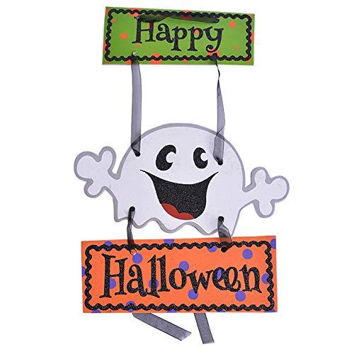 Aisoway Halloween Dekoration Hängen Tag Papier-Tür-Fenster Hängen Streifen Kreative Partei-Festival-Props Geist