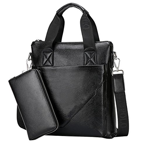 Herren Handtasche Rindsleder Business Aktentasche Casual Bag B