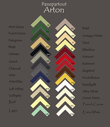 Passepartout - Pappe ARTON 5 Stueck 60x80 cm 80x60 cm Farbwahl: hier Ultra White ohne Ausschnitt Mengenrabatt