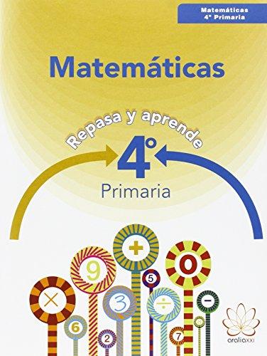 Repasa y aprende. Matemáticas - 4º primaria - 9788415121923