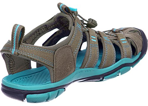 Keen  CLEARWATER CNX W-SHITAKE/BALTIC, sandales femme marron turquoise