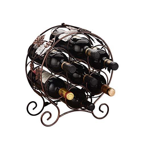 JPJIUJIA Kreative Rotwein-Zahnstange Mehrflaschen-Flaschen-Zahnstange Europäische Wein-Regal-Eisen-Dekoration Persönlichkeit kreativ (Farbe : #1)