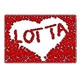 Tischset mit Namen ''Lotta'' Motiv Rosenherz - Tischunterlage, Platzset, Platzdeckchen, Platzunterlage, Namenstischset
