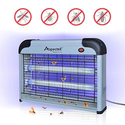Lampara Mata Insectos Electrico Mata Moscas Mejor Solución contra mosquitos, polillas, zancudos, moscas, y mas insectos. (20 Watt) Por fin podrá liberarse de esos insectos voladores