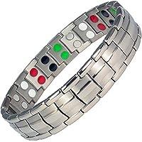 MPS® Europa grau Bio 5in 1Elements Titanium Magnetic Armband + kostenlose links Werkzeug zum Entfernen + Geschenk... preisvergleich bei billige-tabletten.eu