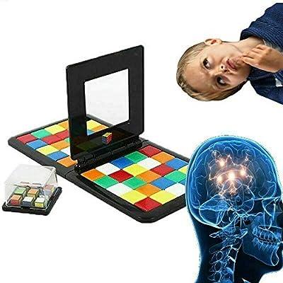 Saingace 48 x Magic Block Game Jeu - Bataille De Rubik Couleur Jeux De SociéTé 2019 Game of Brains Puzzle - Jouet éDucatif pour Enfants Et Adultes