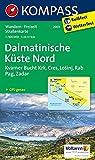 Dalmatinische Küste Nord: Wanderkarte. GPS-genau. 1:100000: Wandelkaart 1:100 000 (KOMPASS-Wanderkarten, Band 2901)
