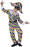 WIDMANN Widman - Disfraz de arlequín payaso infantil, talla 5-7 años (55716)