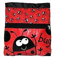Bugzz Childrens Lady Bug Kit Bag Ladybird Backpack