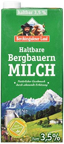 Berchtesgadener Land Haltbare Bergbauern-Milch, 3.5{b90677861a7613f96b244f4ba9a3b118af1d1918ac150b8e7648d09654e97b14} Fett, 12er Pack (12 x 1 l)