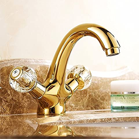 Furesnts Modern Home Kitchen And Bathroom Sink Taps  Gold Over