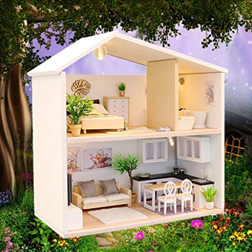 House Furniture Handcraft Miniature Box Creative Gift Toy 3D Puzzle Puppenhaus (as Shown) ()