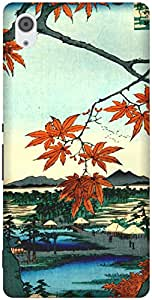 The Racoon Grip printed designer hard back mobile phone case cover for Sony Xperia M4 Aqua. (Maple Tree)