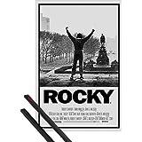 Póster + Soporte: Rocky Póster (91x61 cm) I, Victoria Y 1 Lote De 2 Varillas Negras 1art1®