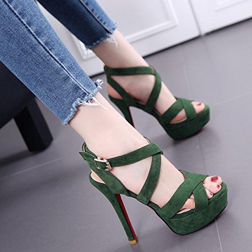 Chaussure Shaoge Poisson Bouche Sandales Saison Croiser Un Mot Avec Creux Stiletto Tacchi Étanche Taiwan Femmes Chaussures Sandali Par Donna Tinta Unita
