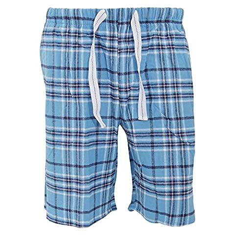 Cargo Bay Mens Plaid Pattern Flannel Pyjama Shorts (X-Large (Waist: 40-42inch, 102-107cm))