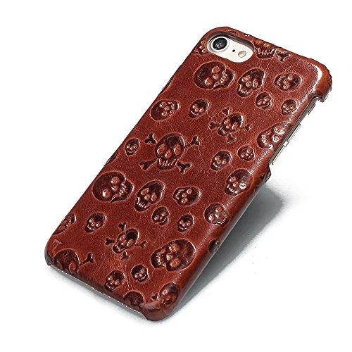 Luxus 3D Effekt Rindsleder echtes Leder Schutzhülle für iPhone 7/8 ( Color : Brown ) Brown