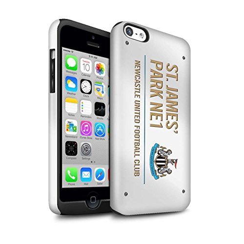 Offiziell Newcastle United FC Hülle / Glanz Harten Stoßfest Case für Apple iPhone 5C / Pack 6pcs Muster / St James Park Zeichen Kollektion Weiß/Gold