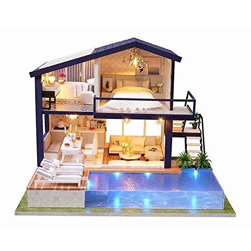Godbless Casas de muñecas 1 pcs DIY Casa de muñecas DIY casa...