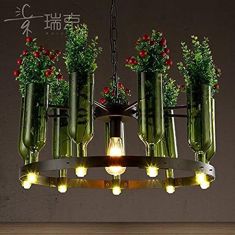 FEI&S personalità creative bottiglia soggiorno lampadario flower