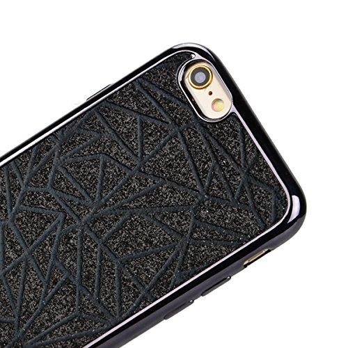 Coque pour iPhone 6S / 6 , We Love Case Coque en Silicone Glitter Plating Placage Doré Coque Bling Housse Etui pour iPhone 6 iPhone 6S Souple TPU Case Soft Skin Couverture Brillant Scintillant Cristal A 01