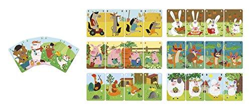 Janod J02756 Quartett Tierfamilie, Bauernhof