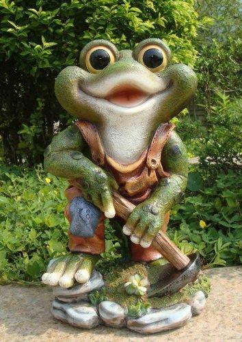 Design 1 Frosch XXL 33 cm Hoch 11149-1 Deko Garten Gartenzwerg Figuren Dekoration