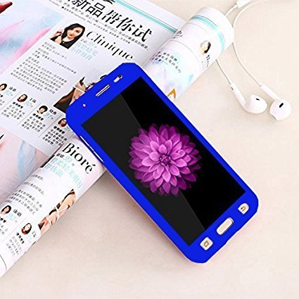 Annant 360 Degree Full Body Protection Front & Back Case Cover (iPaky Style) with Tempered Glass for Vivo Y51L / Y51 (Blue)