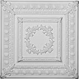 """Ekena Millwork CT24X24MI 24""""W x 24""""H x 3/4""""P Milton Egg & Dart Ceiling Tile"""
