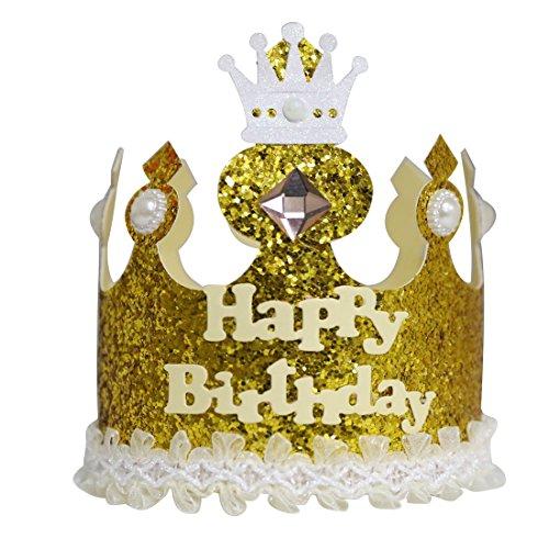 A-szcxtop Pure handgefertigt Krone Geburtstag Cap für Kinder Das Aufzeichnen der Kid 's je Wachstum geeignet für beide Jungen & Mädchen Gut Geschenk für Kinder, (Paper Hut Boy)