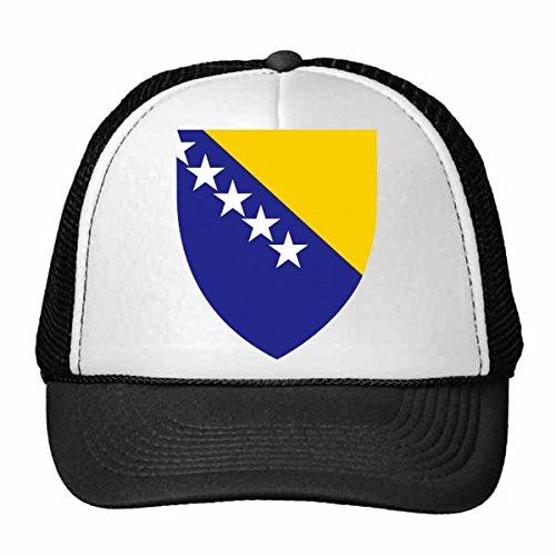 DIYthinker Bosnien und Herzegowina National Emblem Land Symbol Mark Muster Trucker Hat Baseballmütze Nylon Mütze justierbare Kappe Erwachsener