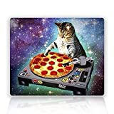 Silent Monsters New Top Funny Space Cat and Pizza Rectangle Non-Slip Rubber Mouse Pad Mousepad Mat