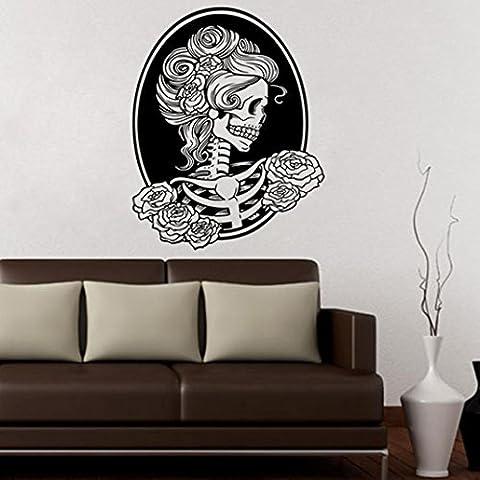Clode® Halloween Skeleton Sfondo Decorato Soggiorno Adesivi Camera