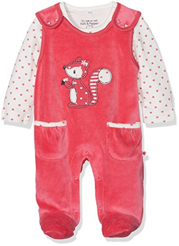 SALT AND PEPPER Baby-Mädchen Strampler NB Playsuit Happy Nicki, Rosa (Rosy Pink 848), 56