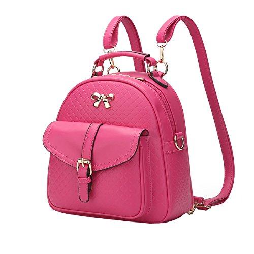 Dissa S815 Nuovo Stile Pu Pelle Deman 2018 Moda Zaino Borse Borse, 245 × 100 × 260 (mm) Rosa