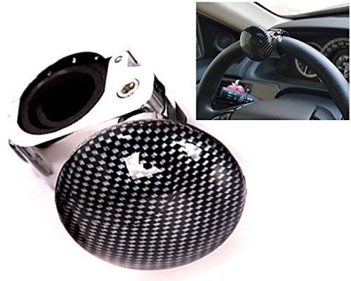 Preisvergleich Produktbild Chytaii KFZ Lenkrad Hilfe-knopf Spinner Auto Lenkrad Ball Lenkrad Booster Lenkhilfe Lenkradknopf Car Steering Wheel Knob Lenkhilfe (Schwarz)