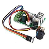 Controlador de Motor Control de Velocidad del Motor DC 6V-60V 30A Control de Controlador de Velocidad variable del Motor con Pantalla Digital